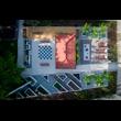 Rozbudowa budynku oraz przystosowanie terenu przy ul. Wałowej 30 w Wodzisławiu Śląskim na potrzeby realizacji projektu pn. Oaza aktywności. Widok z lotu ptaka na plenerową strefę rekreacji i wypoczynk